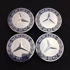 4x original Mercedes-Benz 6-Zahn Nabendeckel Nabenkappen Blau A1714000125 NEU