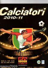 ALBUM FIGURINE=CALCIATORI PANINI 2010-11=con 456 figurine attaccate bene
