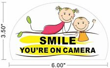 SMILEY FACE SMILE SURVEILLANCE SECURITY CAMERAS IN USE WARNING STICKERS  ~A223