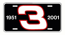 DALE EARNHARDT Sr # 3 License Plate decal racing nascar