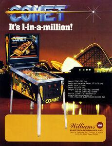 Williams pinball Comet system 9 cpu chip set