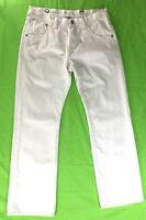 EXPRESS Men's Jeans Sz 32-30 slim Fit Low Rise Straight Leg White 100% Cotton