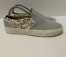 Womens 10 Vans Classic Slip On Shoes Floral Pattern