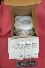 *** *** solo Caja + Manual del usuario para Nikon Nikkor AF-S 500mm f/5.6E PF VR + Correa ED