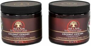 2 x As I Am Naturally Coconut CoWash Cleansing Conditioner 16 oz