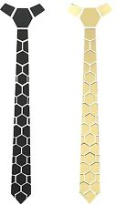 Reversible Acrylic Tie Black and Gold (Hexagon)