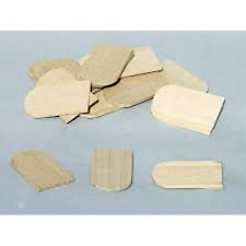 Dolls House Miniatures 1/12 th Scale Wooden Roof Tiles (Curved) x100 (DIY208)