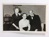 Vintage BW Real Photograph #AK: Family : Formal Dress Bow Tie: Bakerlite Radio