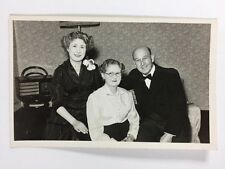 Vintage BW Real Photograph #AK: Family : Formal Dress Bow Tie: Bakerlite Radio