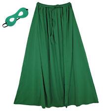 "20"" Child Green Superhero Cape & Mask Costume Set ~ HALLOWEEN COSTUME PARTY"