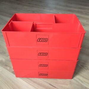 LOT 4 BOITES LEGO RANGEMENT VINTAGE