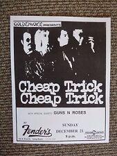 Guns & Roses Early Dec 31st 1986 Fenders Concert Flyer Poster COPY #13 AXL SLASH