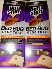 Hot Shot Bed Bug Glue Trap Stations 2x4 (8) Detection Pesticide Free Bedbugs