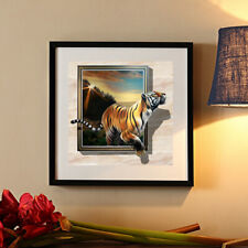 Full Drill 5D Diamond Painting Tiger Photo Frame Cross Stitch Kits Embroidery