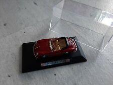 Porsche 356 B Cabrio, rot, 1:43, Atlas, Klarsicht-Vitrine