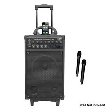 Pyle PWMA970 300w Wireless Rechageable Portable Pa System 2 Microphones