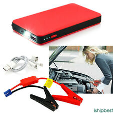 12V 20000mAh Car Jump Starter Pack Booster Charger Battery Power Bank Red New