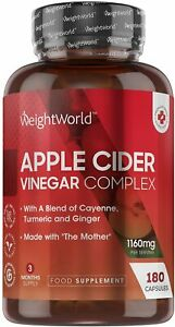 Apfelessig Komplex - 1160mg Apple Cider Vinegar zum Abnehmen & Fettverbrennung