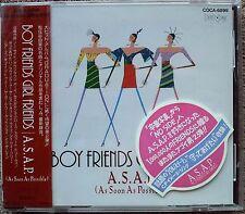 "1990 ""NEW CD"" SAMPLE A.S.A.P. Boy Friends Girl Friends COCA-6899 Japan"