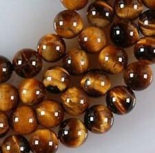 "Natural AAA+ 8mm Yellow African Roar Tiger Eye Gems Round Loose Beads 15"" Strand"