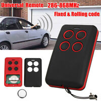 ITS- Universal 4-Button 286-868MHz Fits Fixed Rolling Code Garage Door Remote Gr