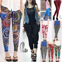 AU SELLER Casual Soft Silky Hippie Baggy Harem Yoga Reversible pants Shorts P082