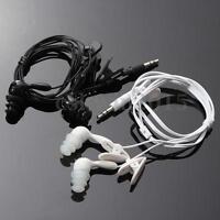 3.5mm Black/White Swimming Waterproof Earphone Headphone for FM Radio MP3  !