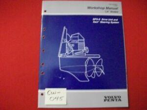 "1997 VOLVO PENTA ""LK"" WORKSHOP MANUAL DPX-S DRIVE UNIT & XACT STEERING SYSTEM"