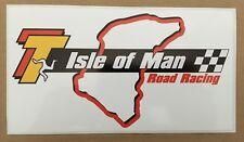 ISLE OF MAN Road Racing TT Fans Motorcycle Van Sticker/Decal x 1