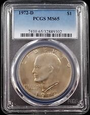 1972 D Eisenhower Dollar certified MS 65 by PCGS!