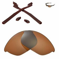 Walleva Brown Replacement and Brown Rubber Kit for Oakley Half Jacket 2.0