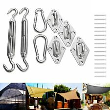 Stainless Steel Sun Shade Sail Hardware Installation Kit Rectangle Triangle US