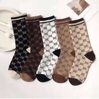Cotton G g Socks Design One Size Fits 100%NEW Calcetines de algodón para mujer