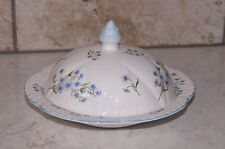 Shelly Fine Bone China ** BLUE ROCK ** Dainty Shape Covered Muffin Butter Dish