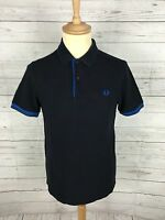 Men's Fred Perry Polo Shirt - Small - Navy  - Twin Tipped - Great Condition
