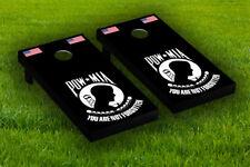 Pow/Mia American Flag Cornhole Board Wraps Laminated Sticker Set Skin Decal