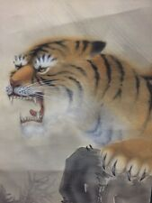 JAPAN/JAPANESE HANGING SCROLL/KAKEJIKU HAND PAINTED TIGER(№133  )