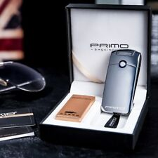 Primo SingleArc Electric Windproof USB Rechargeable Lighter FULL GIFT SET SILVER