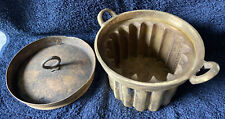 More details for vintage solid brass chinese moon cake mold & lid 16.5 cm (heavy)