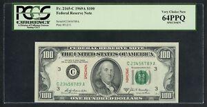 FR2165c VAR. 1969A $100 FRN SPECIMEN PCGS 64 PPQ VERY CU LADDER S/N WLM4789