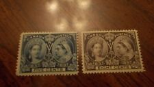 CANADA  1897  Scott #54  and 56 Mint/LH, FOG,  5c and ,8c Victoria Jubilee