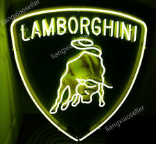 Lamborghini Racing Horse Logo Beer Bar Mancave Real Neon Sign Free Shipping