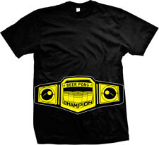 Beer Pong Champion Cup Ball Championship Belt Play College Party Men's T-Shirt