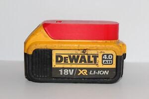Red battery holder / cover for DeWALT XR 18v