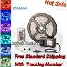 5M LED Strip Light SMD 2835 RGB+Remote Controller+Power Supply IP20 Waterproof