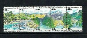 New Zealand: 1992 Landscapes Booklet pane, SG 1690a MNH