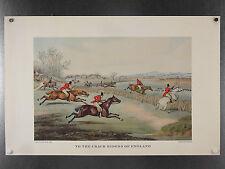 GRAVURE ANGLAISE, Henry Alken, chevaux, cavaliers, quadrichromie