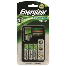 Energizer Value Battery Charger w/ AA 4x 1300mAh batteries LED Suitable AA AAA
