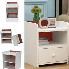 Armoires de table chevet Shabby Chic chambre à coucher en bois de nuit 2 tiroirs