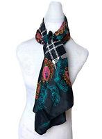 Diane Von Furstenberg Silk Scarf Floral Paisley Multicolor Shawl 42x42 NEW